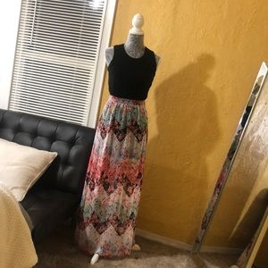 XS Black/floral maxi Dress.